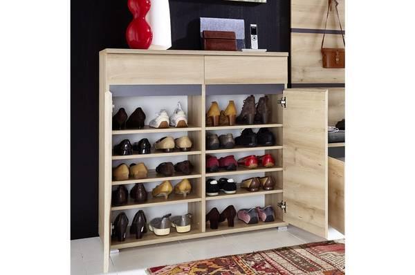meuble a chaussure blanc laqué