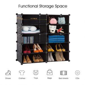 LANGRIA meubleChaussures Modulable 10 Cubes