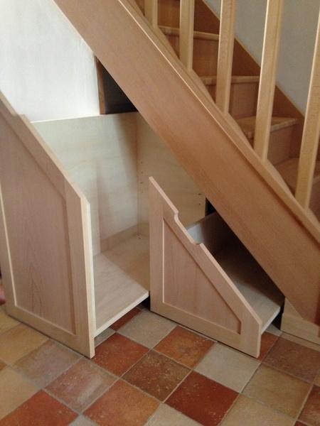 meuble a chaussure en escalier