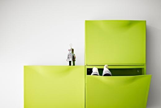 meuble à chaussures vert